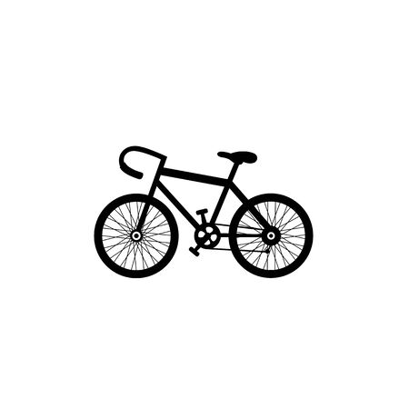 Retro bicycle vector on white background Vector
