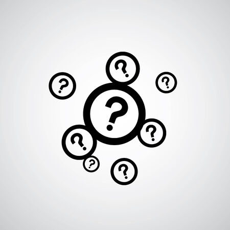 mark: question mark symbol on gray background