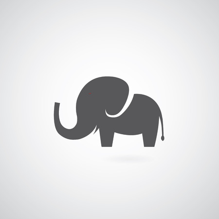 Elephant symbol on gray background Vector