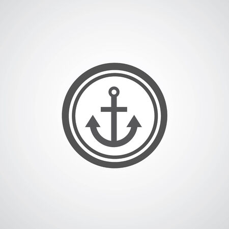 water anchor: Anchor symbol on gray background