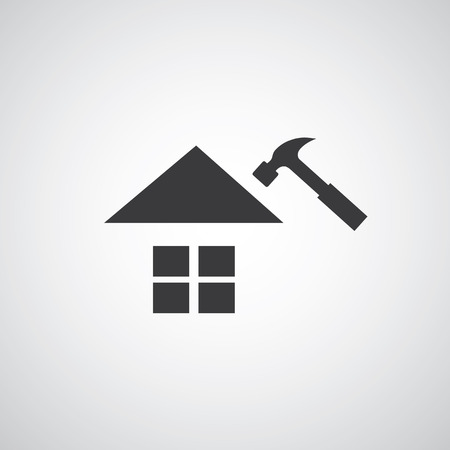 Home repair symbol on gray background Ilustrace