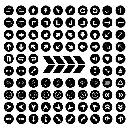 vector arrow sign icon set Vector