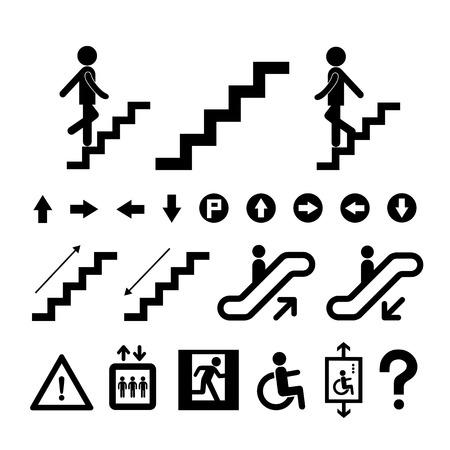 staircase symbol on white background