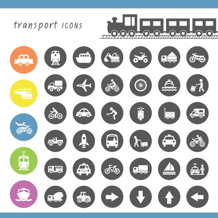passenger transportation: vector basic icon for transport