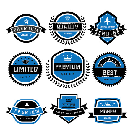 labels set of retro vintage badges Vector
