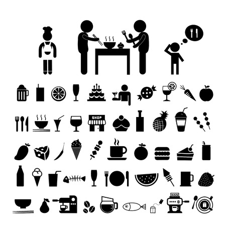 food and drink icon on white background