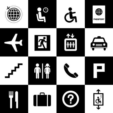 Airport icons set for use