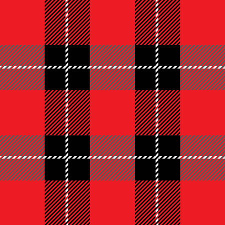 fab: vector red seamless tartan plaid  pattern for background Illustration