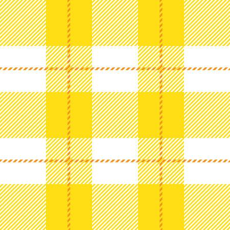 fab: vector yellow seamless tartan plaid for background Illustration