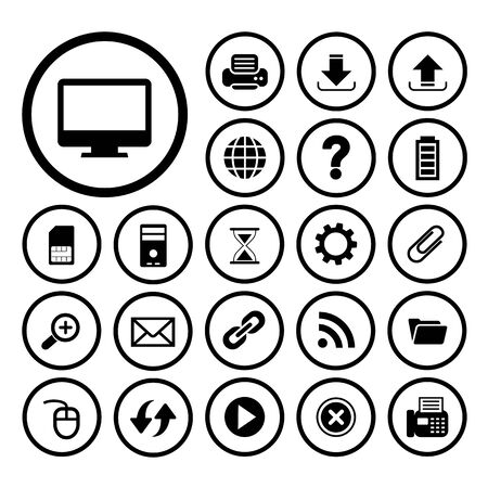 computer and technology vector icon set