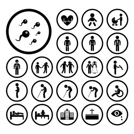 vector basic icon set for human life Vector