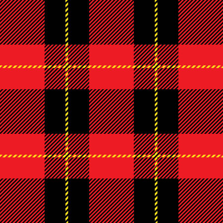 vector red seamless tartan plaid  pattern for background Vector