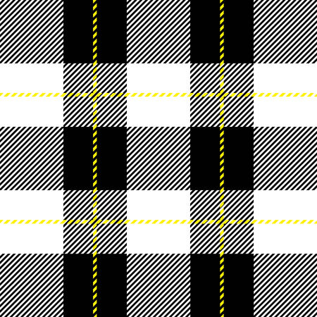 fab: vector black and white  seamless tartan plaid for background