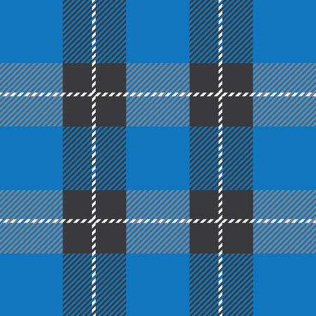 vector blue seamless tartan plaid  pattern for background