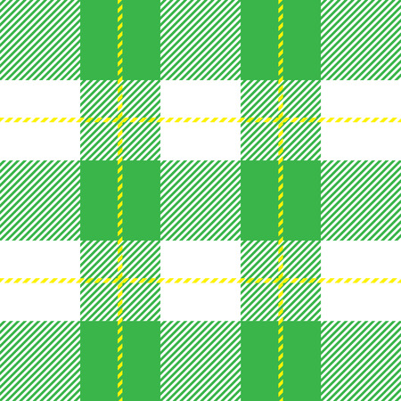 vector green seamless tartan plaid for background Illustration
