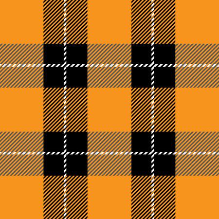 clan: vector orange tartan plaid  pattern for background