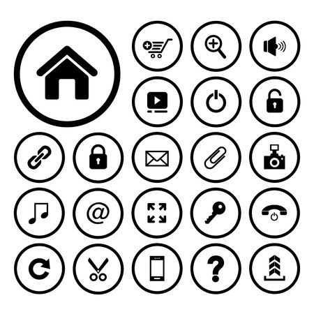 home and technology vector icon set for website Vector