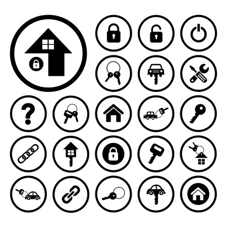 home key and car key vector symbol Vector