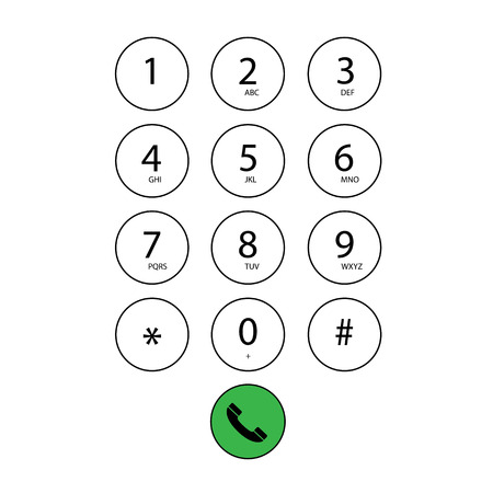 dial pad: vector flat keypad for phone