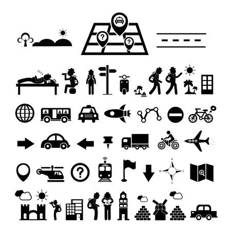 traveler explorer icon on white background Vector
