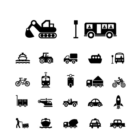 land transport: vector basic icon for transport