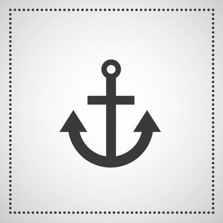 ancre marine: Symbole ancre sur fond gris
