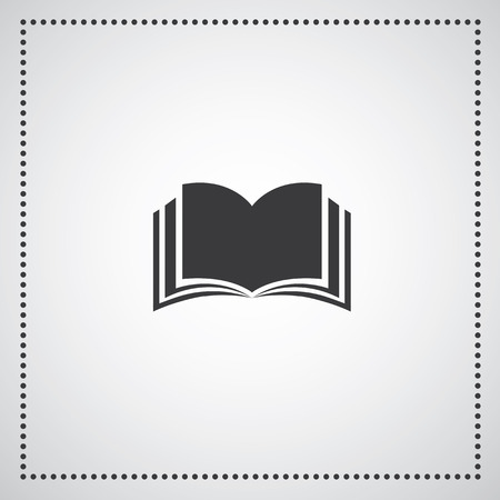 book symbol on gray background Vector
