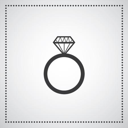 anillo de compromiso: Compromiso de diamantes s�mbolo vector anillo