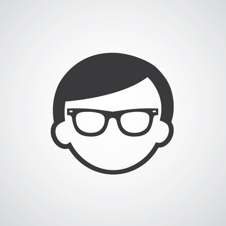 man glasses: vector symbol  man glasses style Illustration