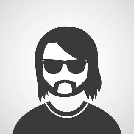 vector symbol  man glasses style Vector
