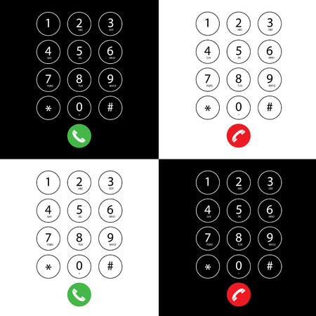 phone numbers: vector flat keypad for phone