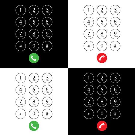 nombres: vectoriser clavier plat pour t�l�phone