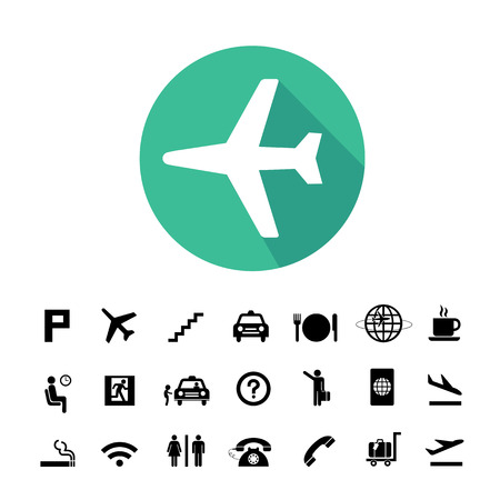 airport symbol: vector basic icon set for airport Illustration