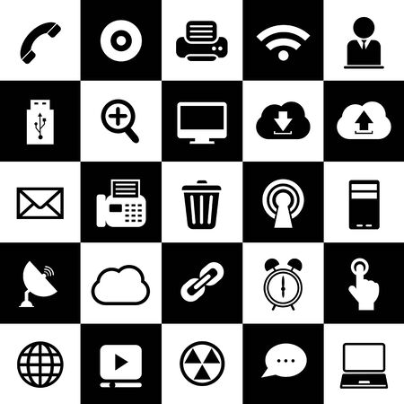 interface icon: technology design interface icon set