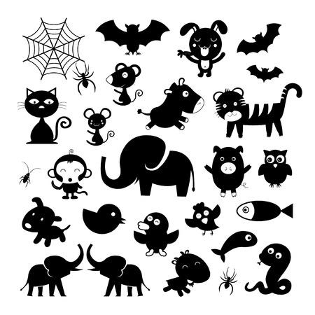cartoon bat: vector animal symbol on white background
