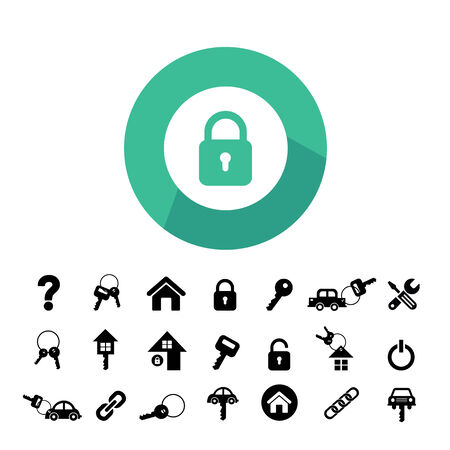home key and car key vector symbol 矢量图像