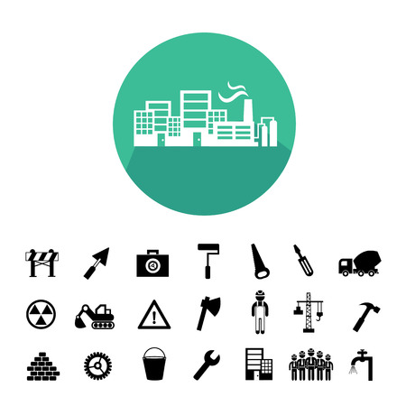 construction team: construction team vector icon set