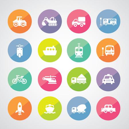 mini bike: vector basic icon for transport