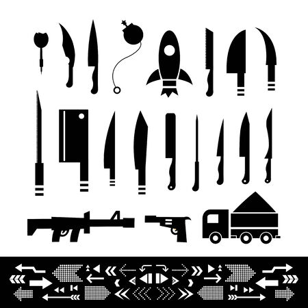 weapons: basic weapons symbol set