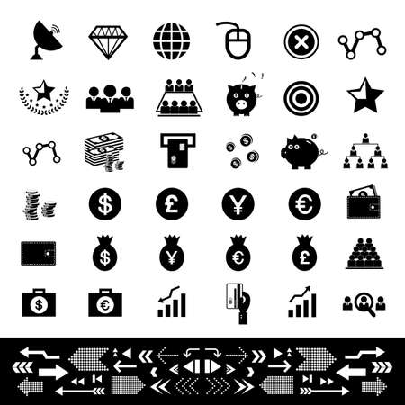 money and financial icon set Vector