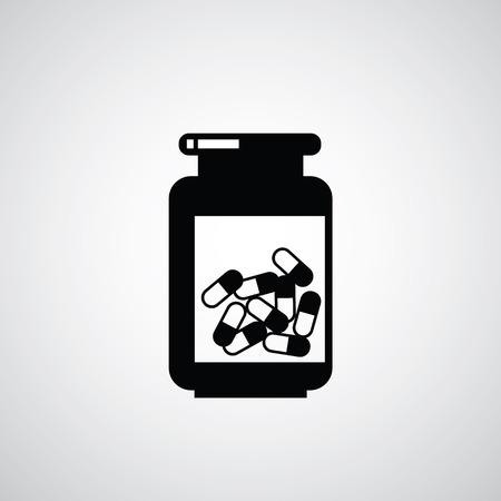 a substance vial: vector vial of medicine symbol