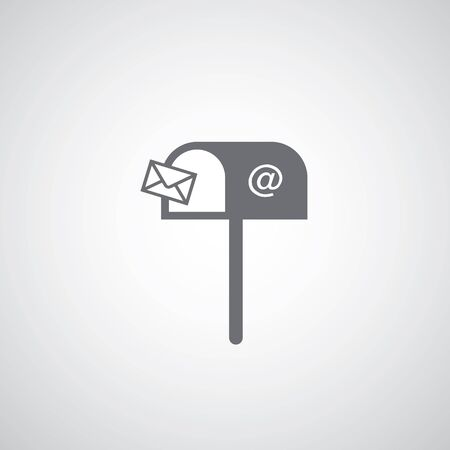 letter mailbox icon vector
