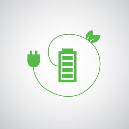 장 전기: battery power charger vector icon 일러스트