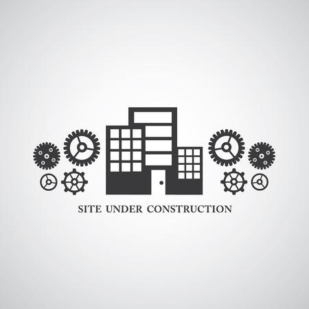 construct: site onder constructie vectorsymbool