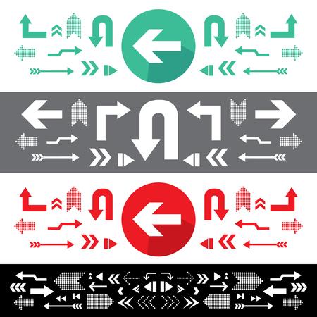 vector arrow sign icon set Illustration