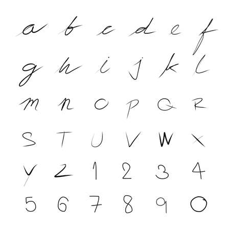 handwriting: handwriting font set for use