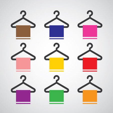 shirts on hangers: basic vector hanger icon set