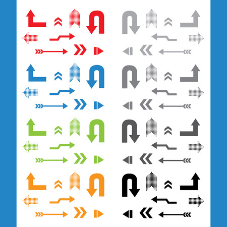 vector arrow sign icon set Illustration