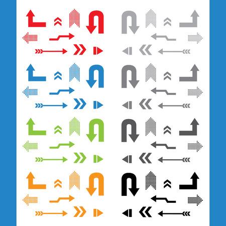 flecha derecha: vector muestra de la flecha icono conjunto Vectores