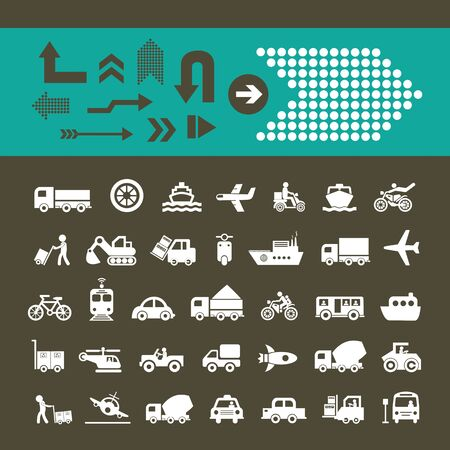 u turn: vector basic icon for transport